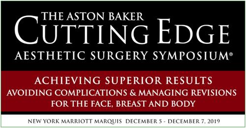 Plastic Surgeons Participate in Aston Baker Cutting Edge Aesthetics Surgery Symposium, 2019