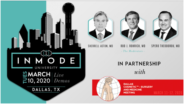 Week Left for the Big D! Dr. Spero Theodorou to be Moderator at the Premier InMode University Event