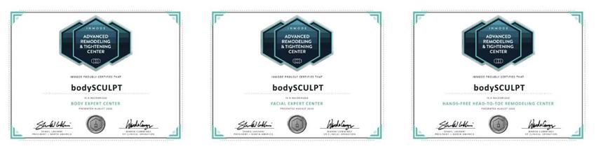 expert center inmode certificates