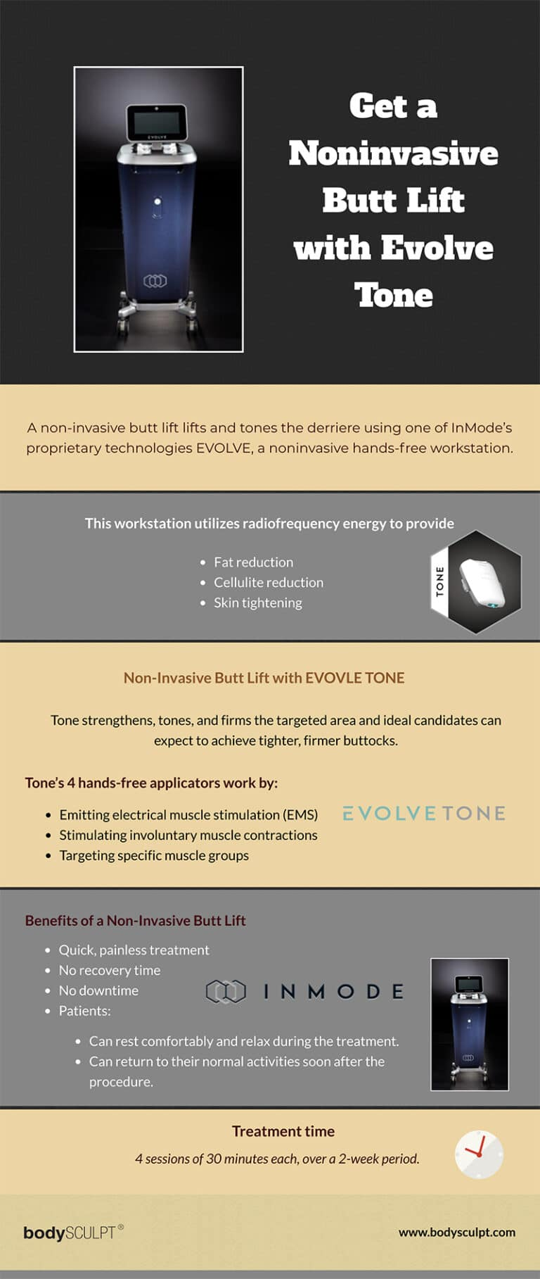 Get a Noninvasive Butt Lift with Evolve Tone [Infographic]